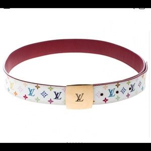 Louis Vuitton Multicolor Monogram Canvas Belt 80cm